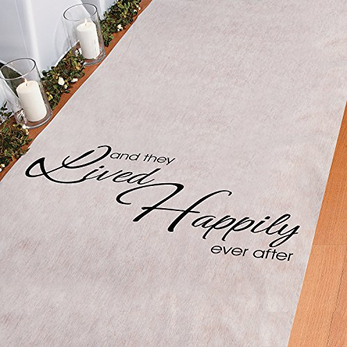 And They Lived Happily Ever After Polyester 100 X 3 Aisle Runner