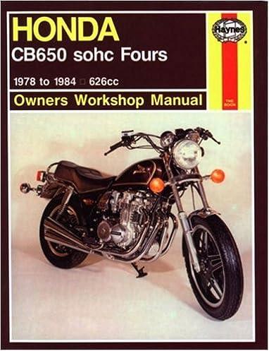 honda cb650 79 82 owners workshop manual haynes 9781850107590 rh amazon com 1984 Honda Nighthawk 650 Specifications 1984 honda nighthawk 650 repair manual