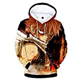 Japan Anime Natsu Lucy Costume 3D Printed Hoodie Pullover Sweatshirt (Small, Color 2)