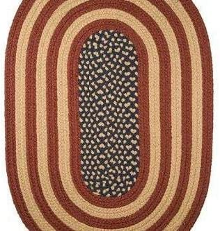 3 x 5 Rustic Flag Braided Rug