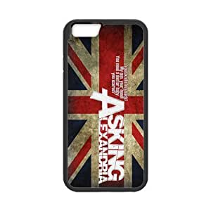 Asking Alexandria Pattern Design Solid Rubber Customized Cover Case for iPhone 4 4s 4s-linda560
