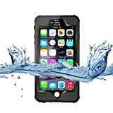 iPhone 6S Waterproof Case,3C-Aone [Newest] Fullybody Underwater Shockproof Snowproof Dirtpoof Protection Cover for Apple iPhone 6S 4.7inch (Black)