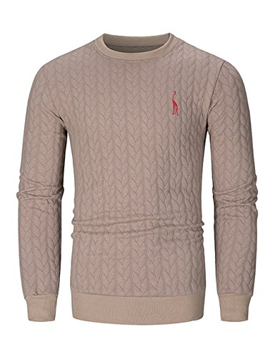GotoseeU Men's Sweater with Round Neck and Long Sleeves,Soft and Comfortable(Two Colors and Four Sizes) by GotoseeU