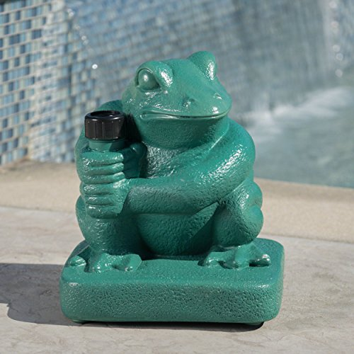 Christopher Knight Home Zues Outdoor 55lbs Green Frog Umbrella Base