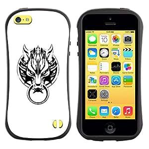 Suave TPU GEL Carcasa Funda Silicona Blando Estuche Caso de protección (para) Apple Iphone 5C / CECELL Phone case / / Wolf Door /
