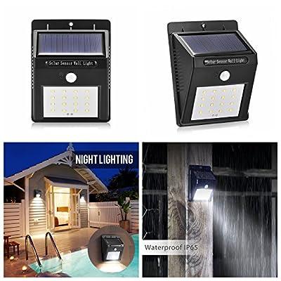 Outdoor Waterpoof Solar Light 16 LED Wireless Motion Sensor Wall lights for Gargen Path Driveway