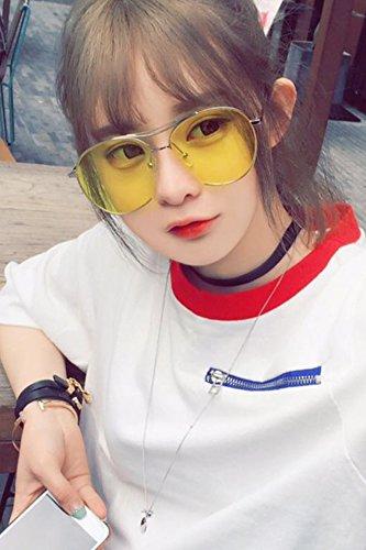 Korea Dress up Star Sunglasses Couple Lover Glasses Sunglasses Unique Women Girls face-Lift (Marine Porn
