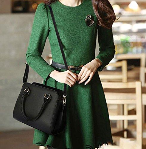 Handle Women's Bags Bags Cross Faux Top Handbags Shoulder Body Leather Navy Bags CxzrwCq
