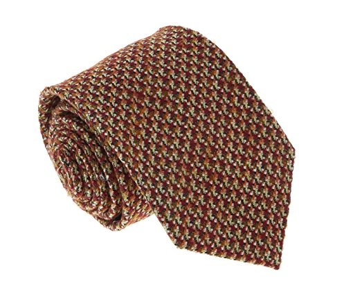 Missoni U5090 Burgundy/Brown Basketweave 100% Silk Tie for mens
