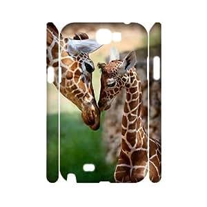 KSDHPNECASE case Of Giraffe Customized Hard Case For Samsung Galaxy Note 2 N7100