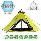 Zimo Outdoor Windbreak Pergola Tower Post Camping Mosquito Net Yurt 10x10' Teepee 5-6 Person Tent