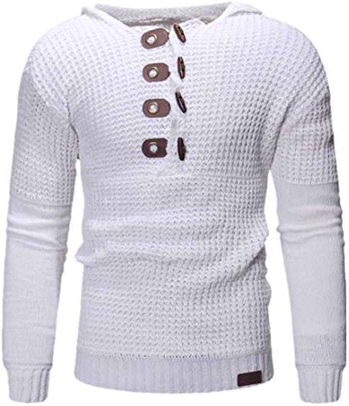 Lfly Męskie Strickjacke Herbst und Winter Schalkragen Cardigan Freizeit Button Down Einfarbig Rundhals Outwear Regular Fit Casual Strickpullover Bequemer Breathable Pullover: Odzież