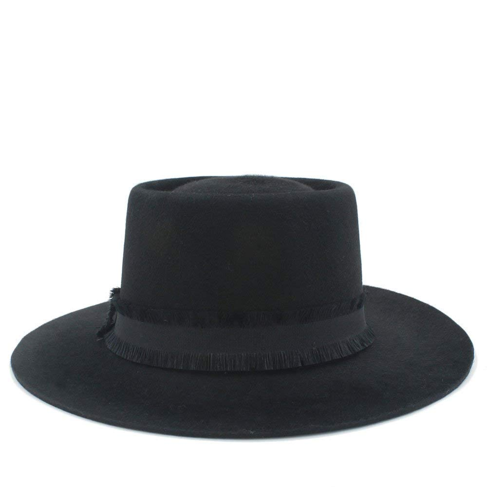Black Pork Pie Wool Felt Handmade for Men Women Warm Soft and Comfortable Hats