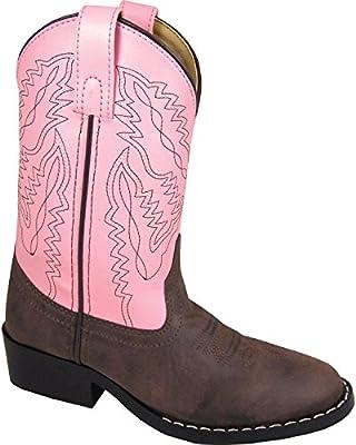 Smoky Mountain Childrens Girls Monterey Boots Brown/Pink