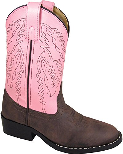 Smoky Mountain Childrens Girls Monterey Boots Brown/Pink, 11M