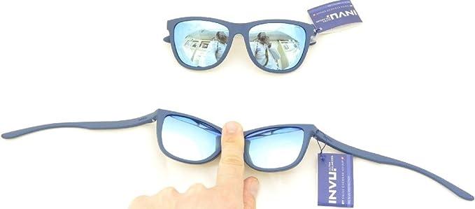 INVU Gafas de sol 2800 B azul de goma extensible espejo azul ...