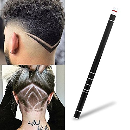 Hair Styling Tools,Hair Tattoo Trim Styling Face Eyebrow Shaping Device,Hair Engraving Pen + 10 Blades + Tweezers Hair Styling Eyebrows Beards Razor Tool (Black) by All Anthony Corp