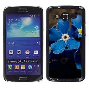 Stuss Case / Funda Carcasa protectora - Blue Suede Flowers - Samsung Galaxy Grand 2