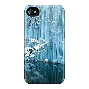 Hot Design Premium XBqLuUL5740MjZcA Tpu Case Cover Iphone 4/4s Protection Case(ice Wall)