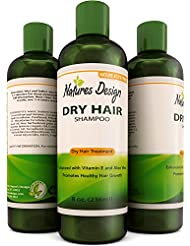 Conditioning Shampoo for Flaky Scalp for Men And Women – Good for Color Treated Hair – Natural Shampoo Cleanser & Dry and Damaged Hair Formula with Argan & Coconut Oil by Natures Design 8 Oz