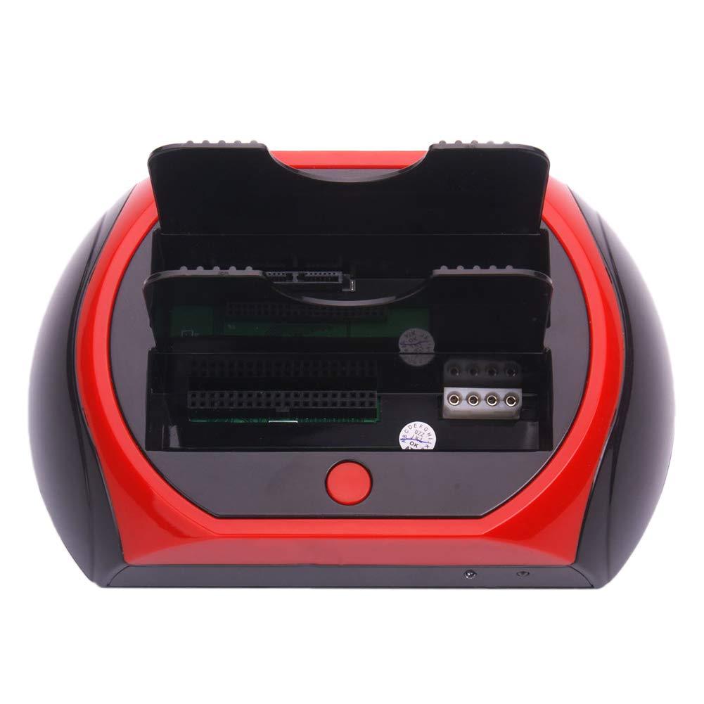 US Plug Shentesel Dual Slot USB2.0 2.5//3.5inch External SATA IDE HDD Hard Drive Docking Station