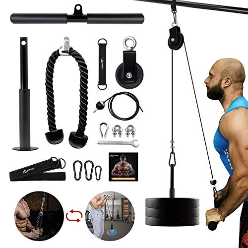 CFBF Pulley System Gym Equipment for Home, Cable Pulley Attachments for Gym,Fitness LAT and Lift Pulley System for LAT Pulldowns, Biceps Curl, Triceps Extensions,Arm Strength Training