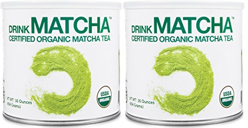 2 Tins of Drink Matcha -1 LB Matcha Green Tea Powder - USDA Organic - 100% Pure Organic Matcha Green tea Powder - Nothing added