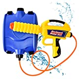 GotechoD Water Gun Backpack Super Soaker Pump Squirt Gun Water Blaster with Tank 37ozHigh Capacity Water Pistol Summer Party Water Game Swimming Pool Beach Sand Toys for 3+ Year Old Boys Girls Kids