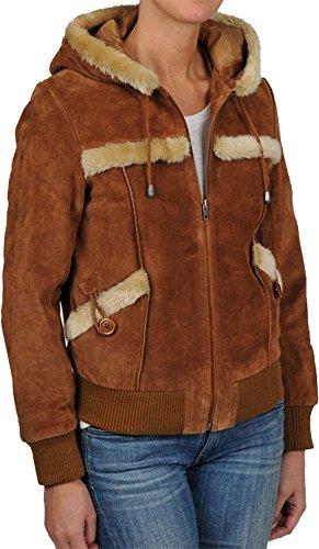 Knoles & Carter Women's Split Leather Jacket Clearane Sale (S, Chestnut)
