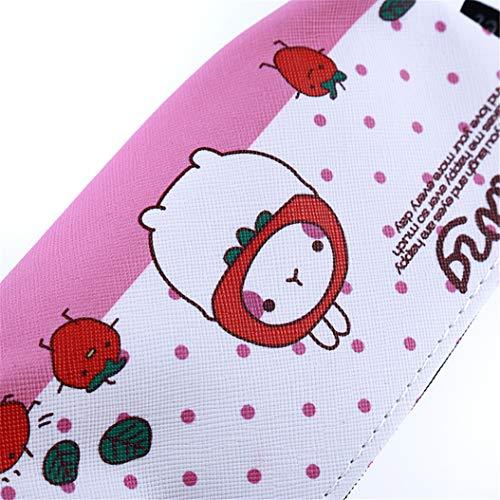 LZIYAN Cartoon Rabbit Pencil Case Cute Stationery Storage Bag Waterproof Cosmetic Bag School Supplies For Students,Pink by LZIYAN (Image #5)