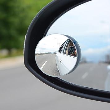 4pcs 51mm Auto Totwinkel Seite konvexen Spiegel Rearview 360 Weitwinkel Einstellbare Runde Randlos