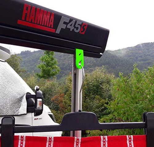 51yUoio5DvL Set Haken Öse für Markisen Fiamma, Omnistor, Thule mit Kederschiene für Wohnmobil, Caravan, Camping (Haken geschlossen…