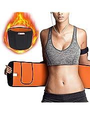Emooqi Waist Trimmer Belt, Waist Trainer Belt for Accelerates Fat Burner/Sauna Suit Effect/Back & Lumbar Support,Breathable Neoprene Fully Adjustable Sweat Belt for Men & Women