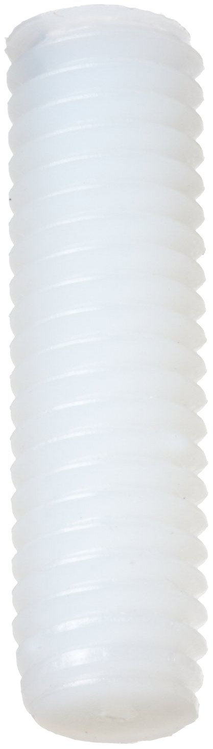 White M5-0.8 Metric Coarse Threads Plain Finish Nylon 6//6 Set Screw Slotted Drive Pack of 100 8mm Length