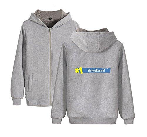 Con Donne Unisex Invernale Uomini Plus Aivosen Comode Cappotto Cashmere Fortnite E Outwear Cappuccio Per Grey2 Zip 4twxqx6d8