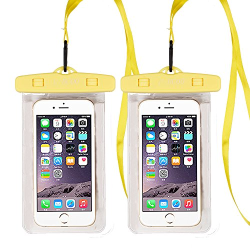 U-BCOO New Pvc Waterproof Case For Kayaking / Ski / Gliding / Boating / Surfing, For Iphone8 / 8 Plus / 7/7 Plus / Galaxy / Google Pixel / Lg / Htc(Yellow) (Yellow Jackets Beach Towel)