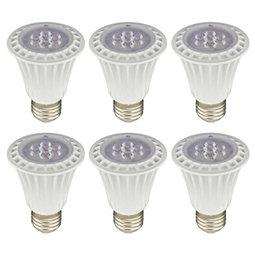 LEDwholesalers UL PAR20 Dimmable LED Spot Light Bulbs with Interchangeable Wide Angle Flood Lens 8-Watt,Warm White,Pack of 6,1330WWx6