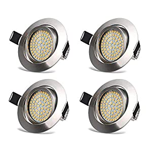 HYDONG LED Recessed Ceiling Lights – Spotlights 3.5W Downlights Warm White 3000K 400LM 230V IP20 Protection – Round…