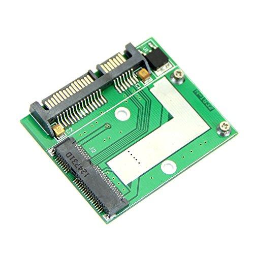 "YSTD PCI-E Half Height mini mSATA SSD to 7mm 2.5"" SATA 22pin Hard Disk Drive PCBA"