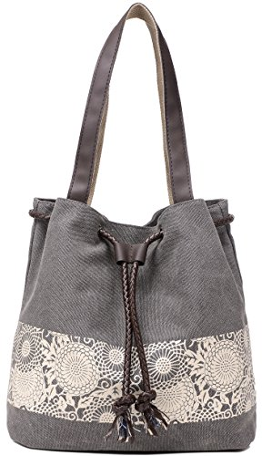 nvas Shoulder Hand Bag Tote Bag (Gray) (Small Tote)