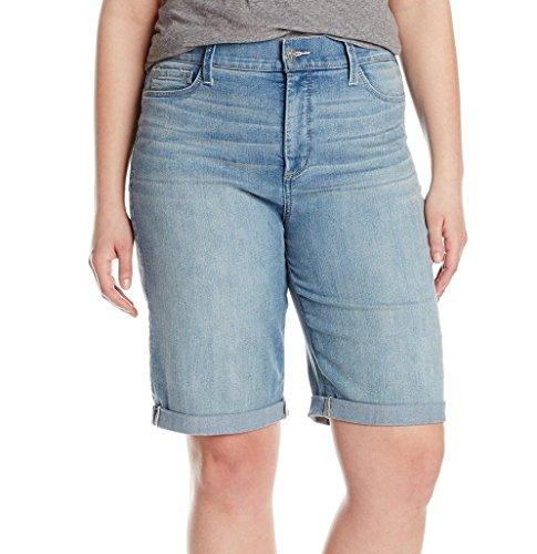 NYDJ Women's Plus Size Briella Roll Cuff Jean Short, Manhattan Beach, 24W ()