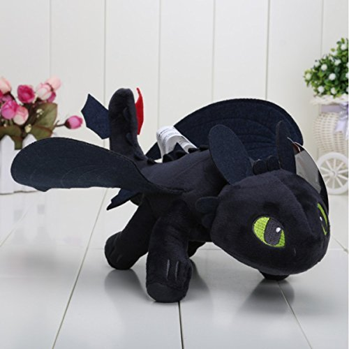 Httyd How To Train Your Dragon 2   10  Toothless Night Fury Stuffed Animal Plush Doll Toy