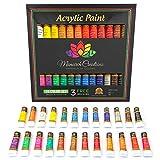 Acrylic paint set 24 colors for Artists. Brush set. Paint kit for Canvas