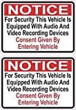 StickerTalk Audio and Video Recording Consent Vinyl Stickers, 1 Sheet of 2 Stickers, 3.5 inches by 2.5 inches Each