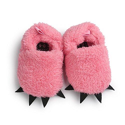 Infantil Pinza para botas de cálido forro polar zapatos de bebé rojo rosso Talla:12-18 meses Rosso