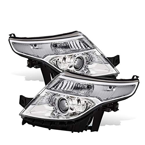 - For 11-14 Ford Explorer Projector Chrome Pair Headlights Headlamps Clear lens Reflector Lamps