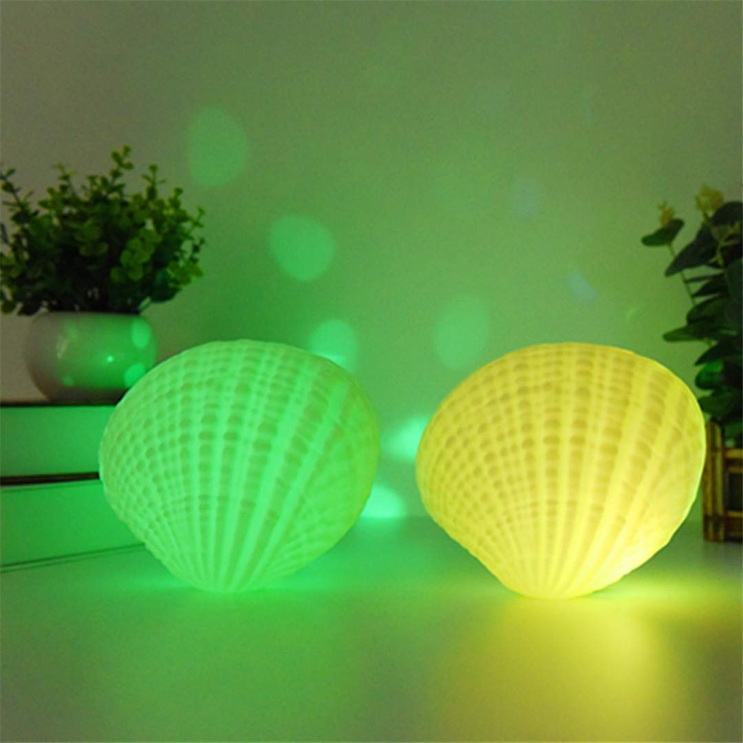 BGFHDSD LED Music Night Light 7 Colors Shell Wireless Bluetooth Player Sound Speaker Valentine Day Rechargeable Home Bedroom Lamp 1 pc per Pack Changeable