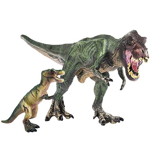 [Peradix Tyrannosaurus Rex Solid Large Dinosaur Figure Toy with Gift Miniature Baby Dino for Archaeology & Paleontology Education Toddler Toys and Collection] (Articulated Tail Costume)