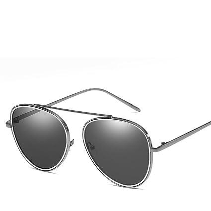 BiuTeFang Gafas de Sol Mujer Hombre Polarizadas de Película Color Moda Moda Hombres y Gafas de