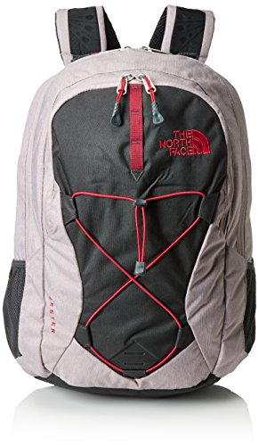 The North Face Side Zip Backpack - The North Face Women's Jester Quail Grey Heather/Cerise Pink One Size